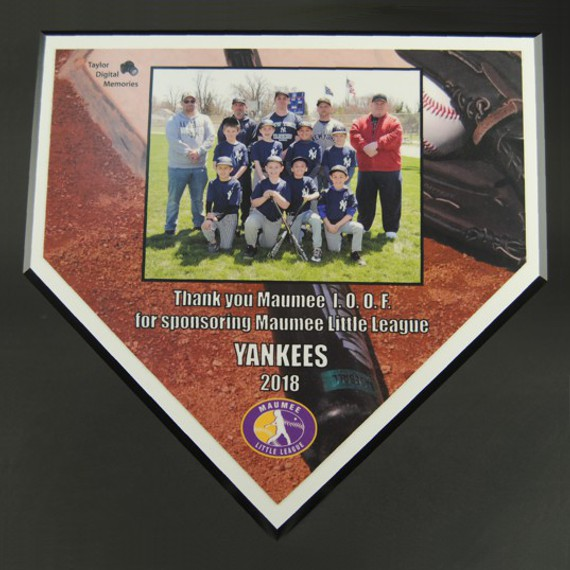 Baseball Home Plate Plaque as a Sponsor Plaque