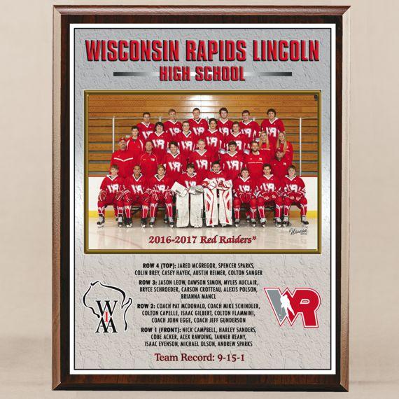 10-1/2 x 13 All Digital Team Photo Plaque for Hockey Champions