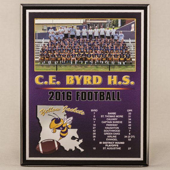 12 x 15 All Digital Team Photo Plaque for Football Champions