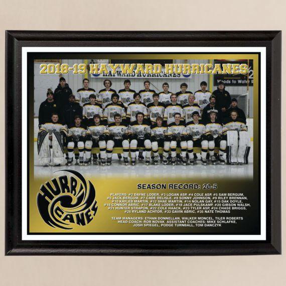 8 x 10 All Digital Team Photo Plaque for Hockey Tournament Championship