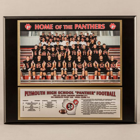 10-1/2 x 13 Classic Team Photo Plaque for Football Champions