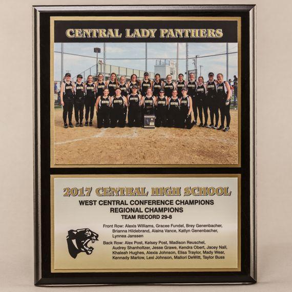 12 x 15 Classic Team Photo Plaque for Softball Champions