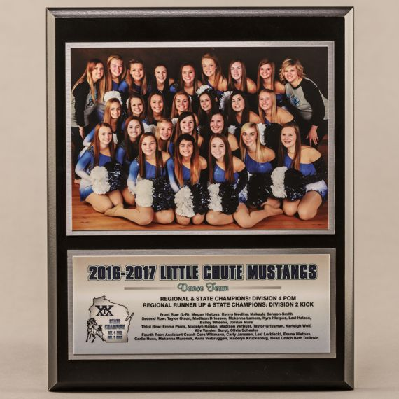 8 x 10 Classic Team Photo Plaque for Cheerleading Dance Champions