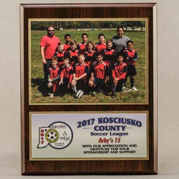 8 x 10 Sponsor - Coach Photo Plaque for Sponsor Plaque