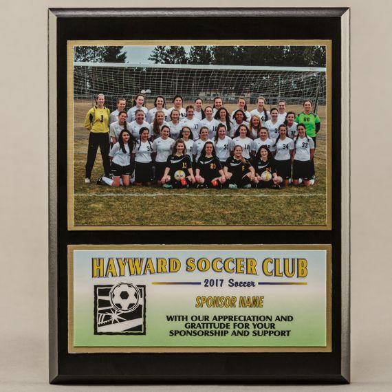 8 x 10 Coach - Sponsor Photo Plaque for Soccer Champions