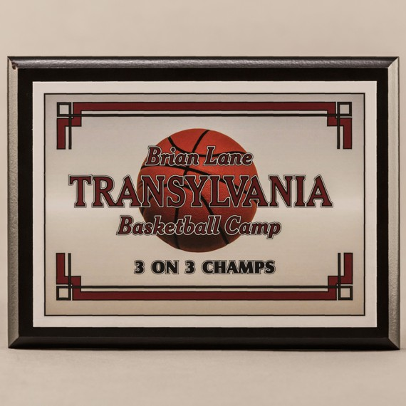 6 x 8 MVP Style Black Plaque - Basketball Champs