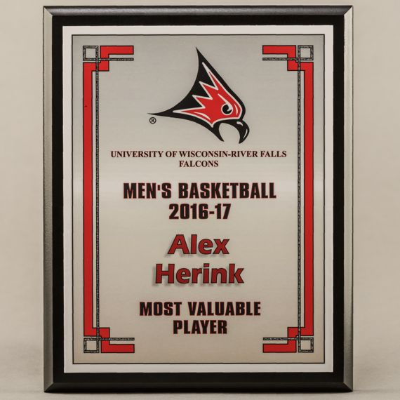 8 x 10 MVP Style Black Plaque - Basketball Most Valuable Player