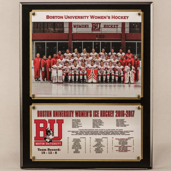 12 x 15 Traditional Team Photo Plaque with 2 plates for Women's Hockey Champions