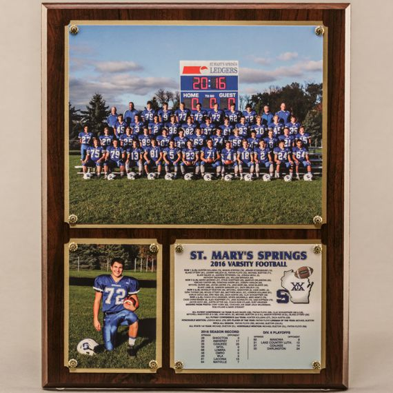 12 x 15 Traditional Team Photo Plaque for Football Champions