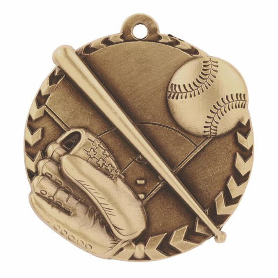 Gold Baseball Medal - Also Available in Silver and Bronze