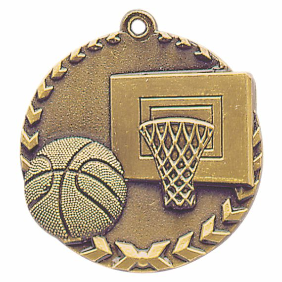 Gold Basketball Medal - Also Available in Silver and Bronze