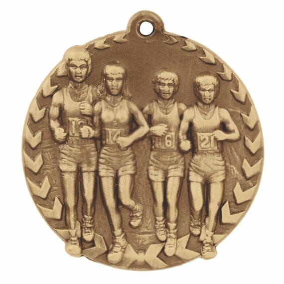 Gold Cross Country Medal - Also Available in Silver and Bronze