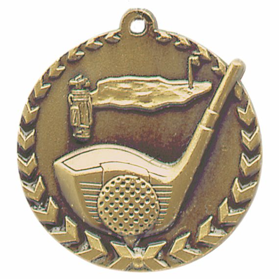 Gold Golf Medal - Also Available in Silver and Bronze