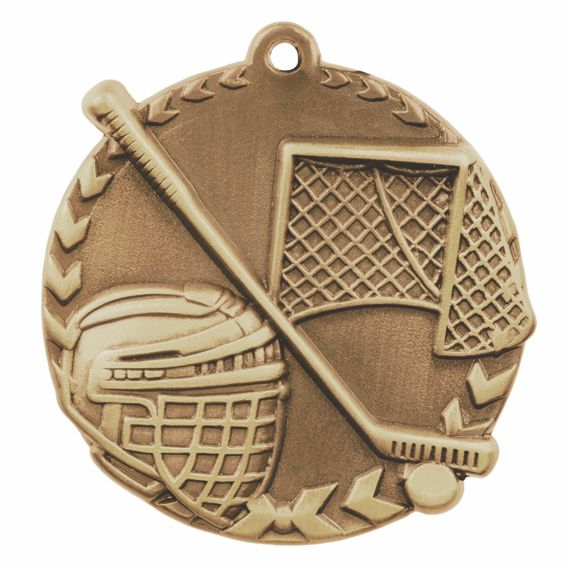 Gold Hockey Medal - Also Available in Silver and Bronze