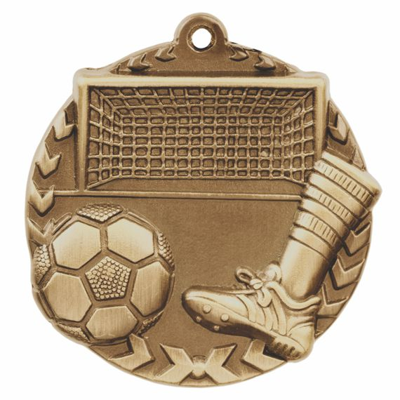 Gold Soccer Medal - Also Available in Silver and Bronze