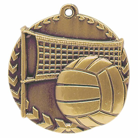 Gold Volleyball Medal - Also Available in Silver and Bronze
