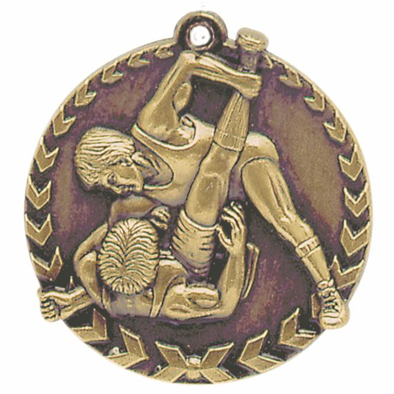 Gold Wrestling Medal - Also Available in Silver and Bronze