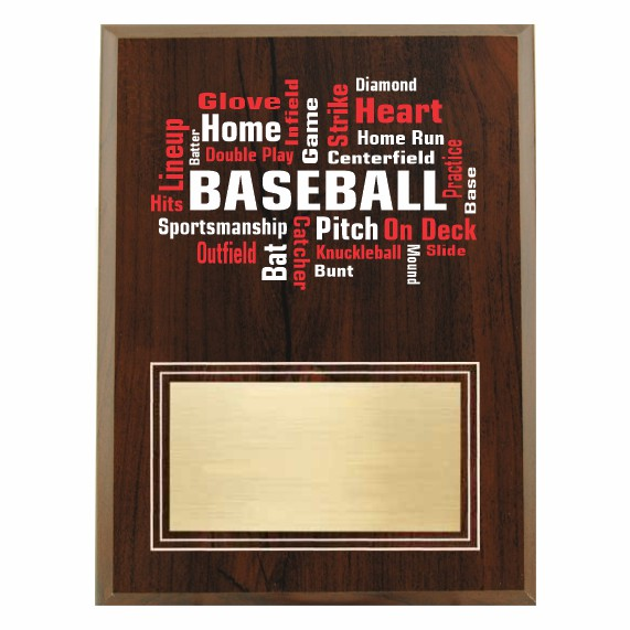 Amazing Competitor series baseball cherry plaque