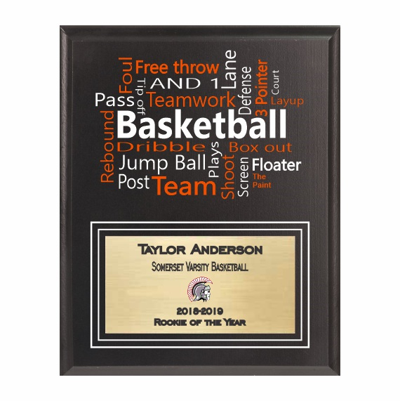 Amazing Competitor Series Basketball Black Plaque
