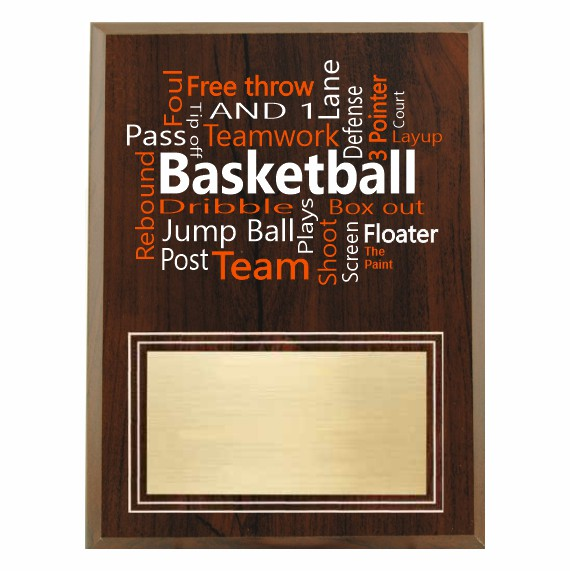 Amazing Competitor Series Basketball Cherry Plaque
