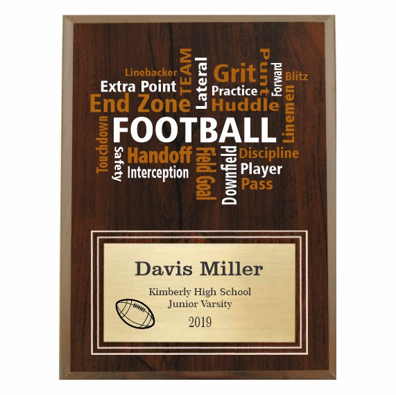 Amazing Competitor series Football cherry plaque