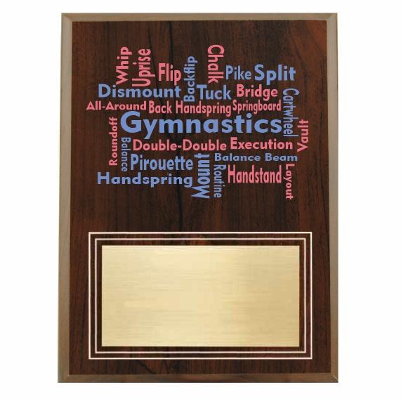 Amazing Competitor series gymnastics cherry plaque