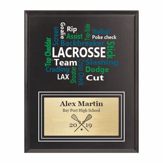 Amazing Competitor series lacrosse black plaque