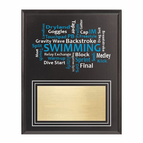 Amazing Competitor series swimming black plaque