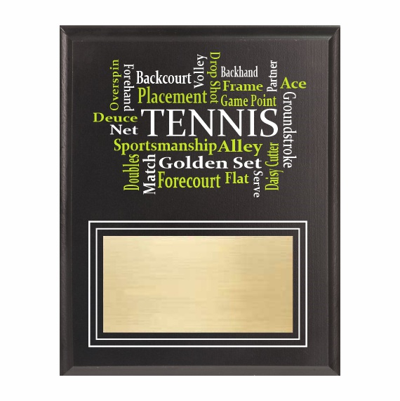 Amazing Competitor Series Tennis Black Plaque