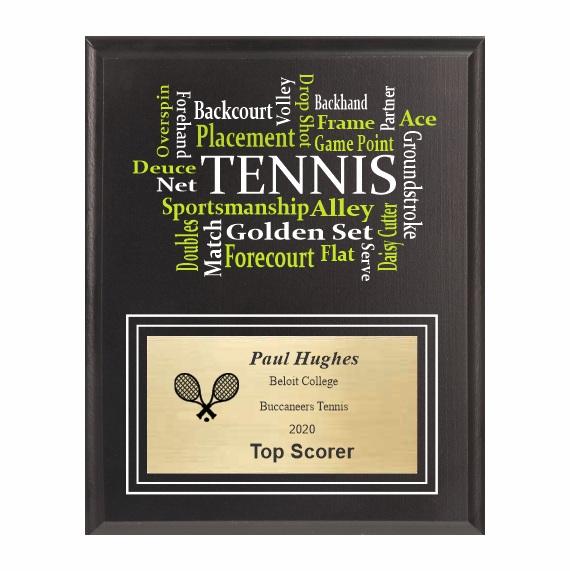 Amazing Competitor Series Tennis Black Plaque