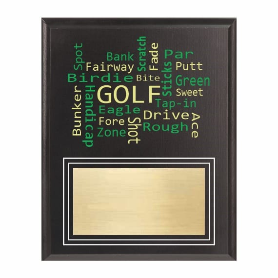 Amazing Competitor series Golf black plaque