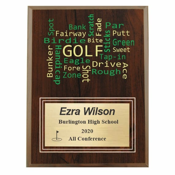 Amazing Competitor series golfcherry plaque