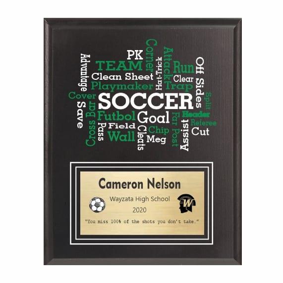 Amazing Competitor series soccer black plaque