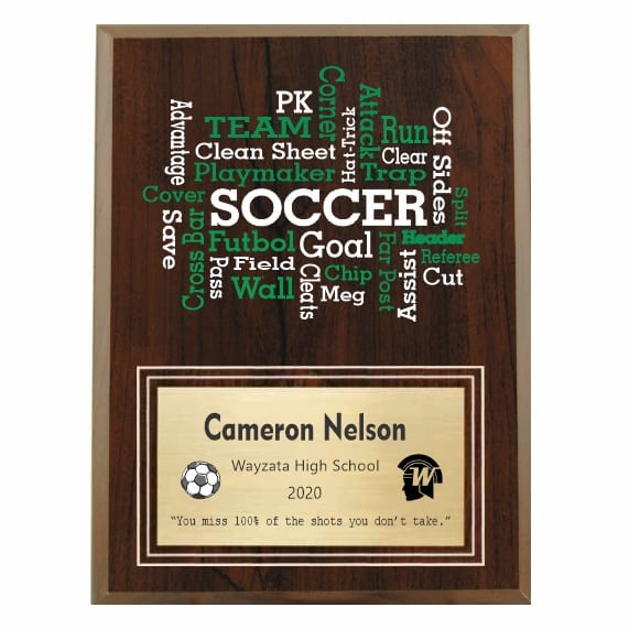 Amazing Competitor series Soccer cherry plaque