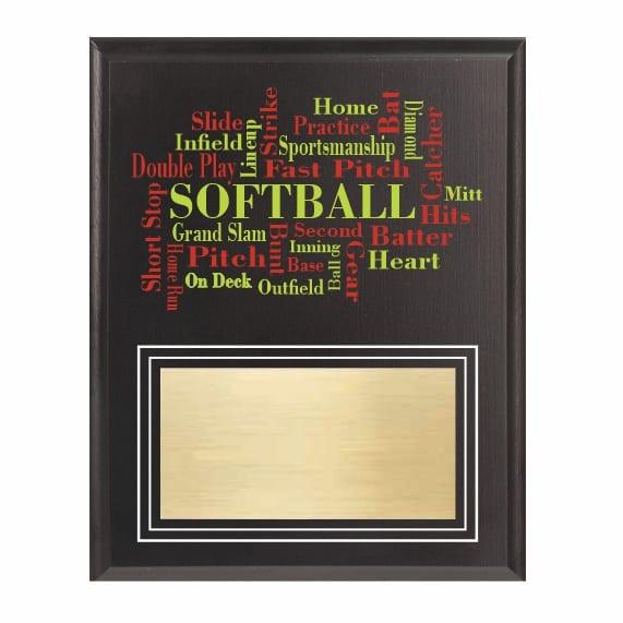 Amazing Competitor Series Softball Black Plaque