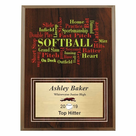 Amazing Competitor Series Softball Cherry Plaque