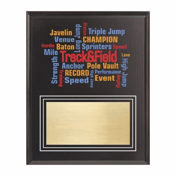 Amazing Competitor Series Track and Field Black Plaque